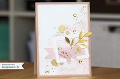 Stampin' Up! - Grußkarte in Kirschblüte und Gold