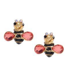Betsey Johnson Bumble Bee stud earrings