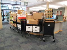 The 1,200 items are ready to go to the Bellevue Food Pantry!
