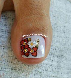 #imponente Toe Nail Art, Nail Art Diy, Diy Nails, Fall Toe Nails, Pretty Toe Nails, Best Toe Nail Color, Fall Nail Colors, White Toenails, Toenail Art Designs