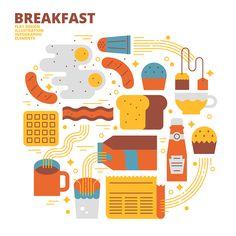 Breakfast on Behance
