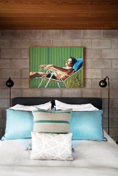 Home Tour: An Artful Aspen Cabin by Hillary Thomas via @domainehome