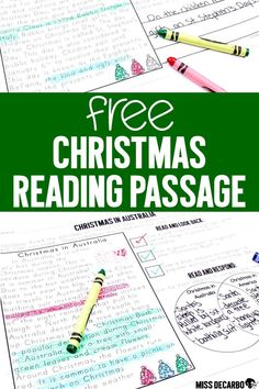 Get a FREE reindeer reading passage for comprehension. This text evidence reading comprehension passage is perfect for small group reading lessons and as an extension activity to your reindeer-themed Christmas lessons! 2nd Grade Reading Comprehension, Third Grade Reading, Reading Passages, Comprehension Strategies, Small Group Reading, Reading Help, Reading Groups, Reading Lessons, Math Lessons