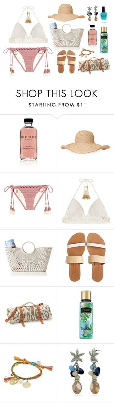 """""""Crochet Bikini 🌴"""" by helloume ❤ liked on Polyvore featuring Bobbi Brown Cosmetics, Mar y Sol, SHE MADE ME, Mark & Graham, Isapera, Maslin & Co., Venessa Arizaga, New Directions and Lauren B. Beauty"""