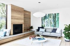 licking through pics this arvo and found this unseen gem from our Elwood project ♡♡♡ Interior design and styling by us Fireplace Windows, Family Room Fireplace, Home Fireplace, Modern Fireplace, Fireplace Design, Fireplaces, Coastal Living Rooms, Home Living Room, Living Spaces