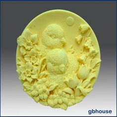 Baby Chicks with Flowers - Silicone Soap Mold