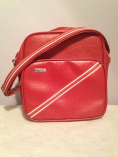 Super Cute Cherry Red Samsonite Cosmetic Carry On Shoulder Bag