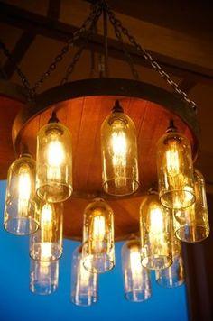 Amazing wine bottle light fixtures