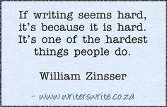 Quotable - William Zinsser - Writers Write Creative Blog #writing #reading #books @BookCountry