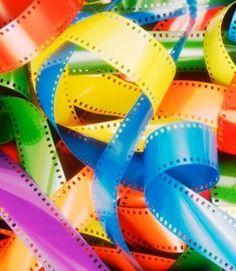 Bright colours of retro photo film