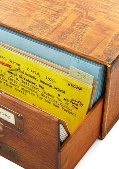Best gift: Vintage-inspired library notecards in a traditional card catalog drawer
