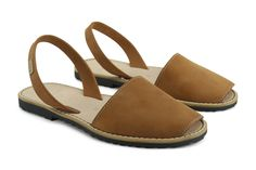 Castell Avarcas Women's Classics Brown Cuero Leather Slingback Sandals