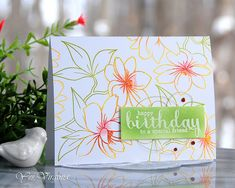 happy birthday to a special friend SSS Wed Jan 17 - Add a Sentiment
