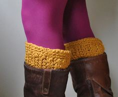 Organic Boot Cuff by DottieQ on Etsy
