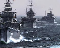 japanese destroyers on the move (1941)