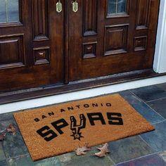 San Antonio Spurs Flocked Coir Door Mat