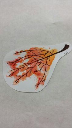 Fall leaf handprint art