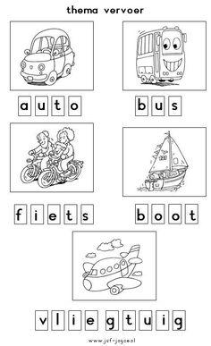 Werkblad letters: vervoer