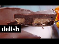 How To Make Reese's Pieces Big Cup Brownie   Delish - YouTube