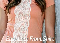 Easy Lace Front Shirt Craft Tutorial