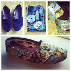 After 3 years, my Toms needed a makeover for 2013!