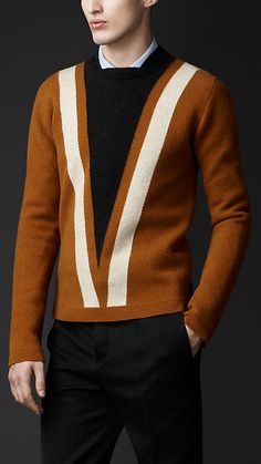 Chevron Wool Cashmere Sweater | Burberry