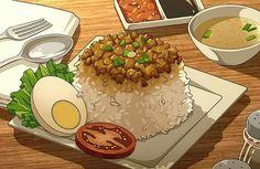 Fake Food, Food N, Food And Drink, Photographie Indie, Anime Gifs, Food Sketch, Food Cartoon, Japon Illustration, Eat This