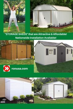 Check out our huge selection of Storage Sheds that are attractive and affordable.