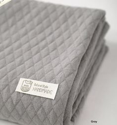 Quilted Knit Fabric Dark Gray By The Yard by FabricBonita on Etsy