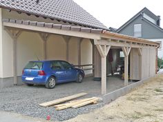 Carport aus Holz mit Pultdach Though historical around idea, the particular pergola continues to be Lean To Carport, Carport Garage, Pergola Carport, Curved Pergola, Metal Pergola, Deck With Pergola, Pergola Shade, Patio Roof, Pergola Kits