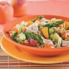 Salade de quinoa au poulet et pêches - Recettes - Cuisine et nutrition - Pratico Pratique