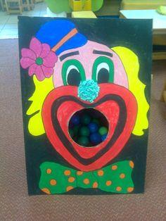 κ Diy Carnival Games, Circus Party Decorations, Carnival Crafts, School Decorations, Party Activities, Activities For Kids, Clown Crafts, Preschool Projects, Carnival Birthday Parties