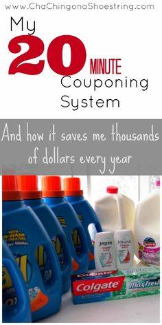 How a 20 Minute Couponing System has saved me thousands of dollars each year.  Three simple steps is all it takes for you to do the same!  A Must-Read if you are trying to save money during a busy season of life.