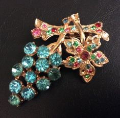 HI QUALITY Vintage Brooch Pin Flower Fruit Salad Glass Rhinestone A726 | Jewelry & Watches, Vintage & Antique Jewelry, Costume | eBay!