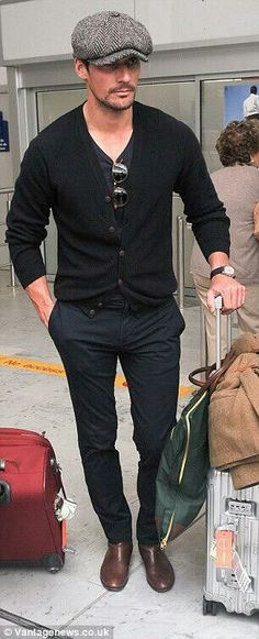 #DavidGandy seen arriving at Nice Airport for the 68th Annual Cannes Film Festival on May 19, 2015 in Nice, France.