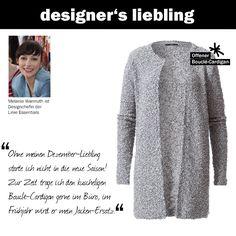 Der Dezember-Liebling unserer Designchefin Melanie #zerofashion #bouclé #cardigan