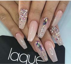 Nude with bling from laquenailbar