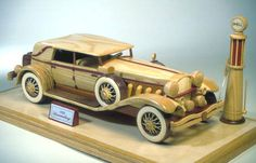 Wooden Toy Car Plans | Duesenberg car in a woodworking plan