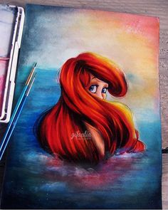 Ariel By @gifaulia  _ Also check out our new art featuring page @artshelp  _ Via @disney.arts