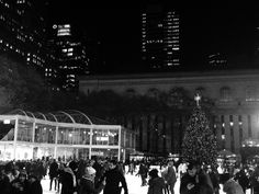 Iceskating at Bryant Park Empire State Of Mind, Bryant Park, Times Square, Nyc, Black And White, Blanco Y Negro, Black N White, New York City