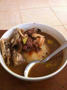 Liberian Fufu and soup. cold medicine
