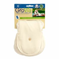 GroVia Certified Organic Cotton Soaker Pad 2 Pack Made with IMO certified organic cotton. Extra absorbent. Quick drying.  #GroVia #BabyProduct