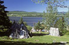 Site d'interprétation de la culture Micmac de Gespeg, Gaspé - Photo : Michel Julien. #Gaspesie