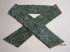 "Extra Wide 3"" Reusable Non-Toxic Cool Wrap / Neck Cooler  - Cowboy/Bandana/Hanky - Green by ShawnasSpecialties on Etsy"