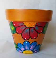 Cerámica pintadas de pote de flor pote de por brilliantexpressions…