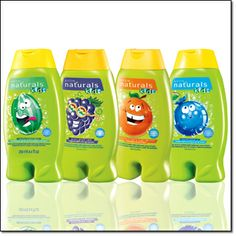AVON naturals kids BODY WASH  BUBBLE BATH - Dermatologist-Tested.  Hypoallergenic.  Ages 3  up.   Each, 8.4 fl. oz. Your choice of Wacky Watermelon, Groovy Grape, Outgoing Orange or Bursting Berry.