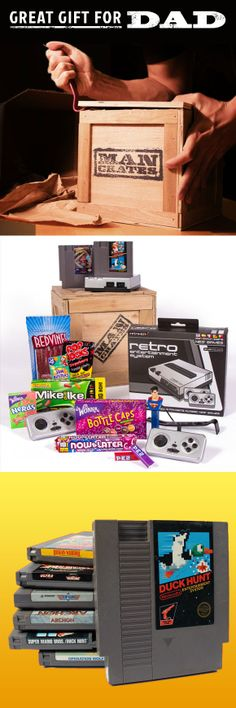 A great Father's Day gift for all the gamers out there. But first they have to pry it open with the crowbar! #mancrates