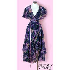 stevie nicks fashions of the 1970's | 1970's Stevie Nicks Style Wrap Hippie Dress 1970's Stevie Nicks Style ...