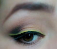 Yellow liner makeup look / julieknowshow.blogspot.com