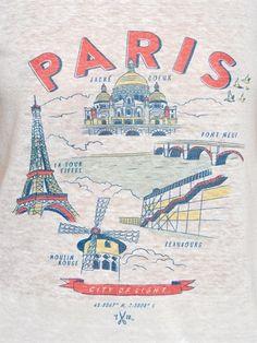 PARIS PRINTED LINEN T-SHIRT -